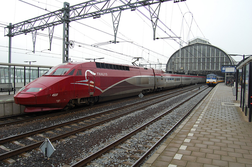 Thalys high speed train at Amsterdam Central Station
