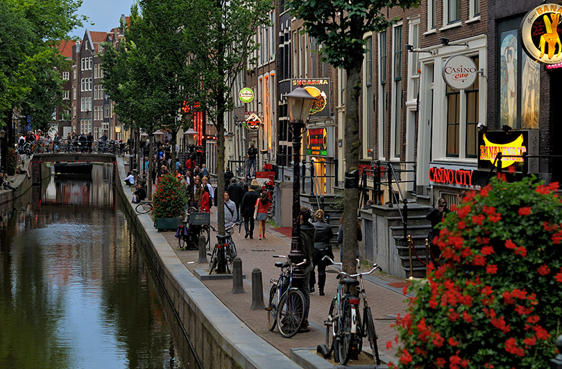 Red-light district in Old Amsterdam