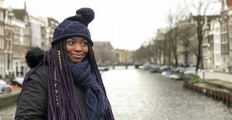 Krystal Nzeadibe studying Amsterdam
