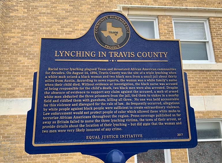 Austin History, marker at Wesley United Methodist Church