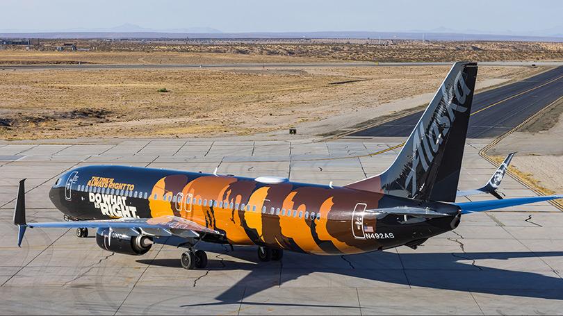 Alaska Airlines UNCF Airplane