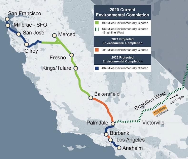California California High Speed Rail and Brightline West HSR