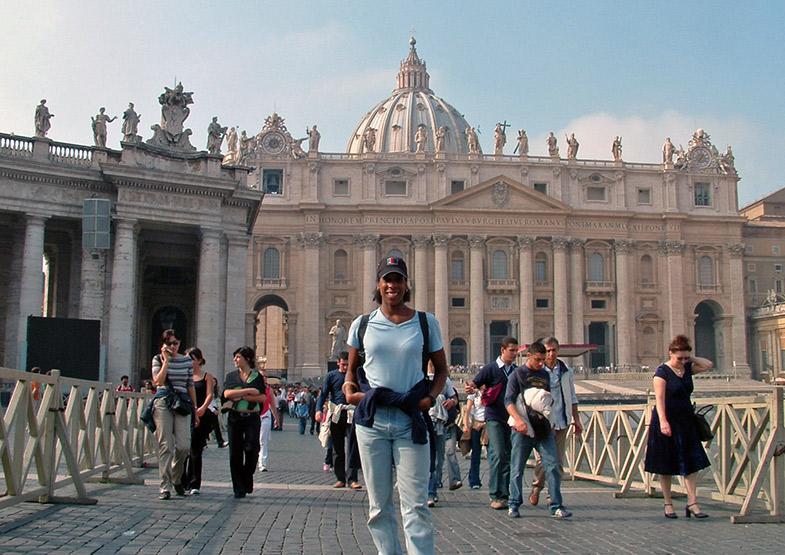 Lysa Allman-Baldwin visiting the Vatican, Soul of Rome