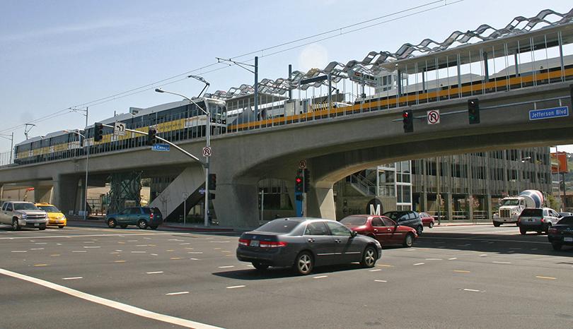 Los Angeles Metro Light Rail station