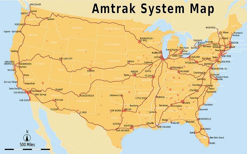 Amtrak-Streckennetz
